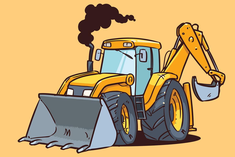 Coloriage Engins De Chantier Sur Hugolescargot destiné Dessin D Un Tracteur