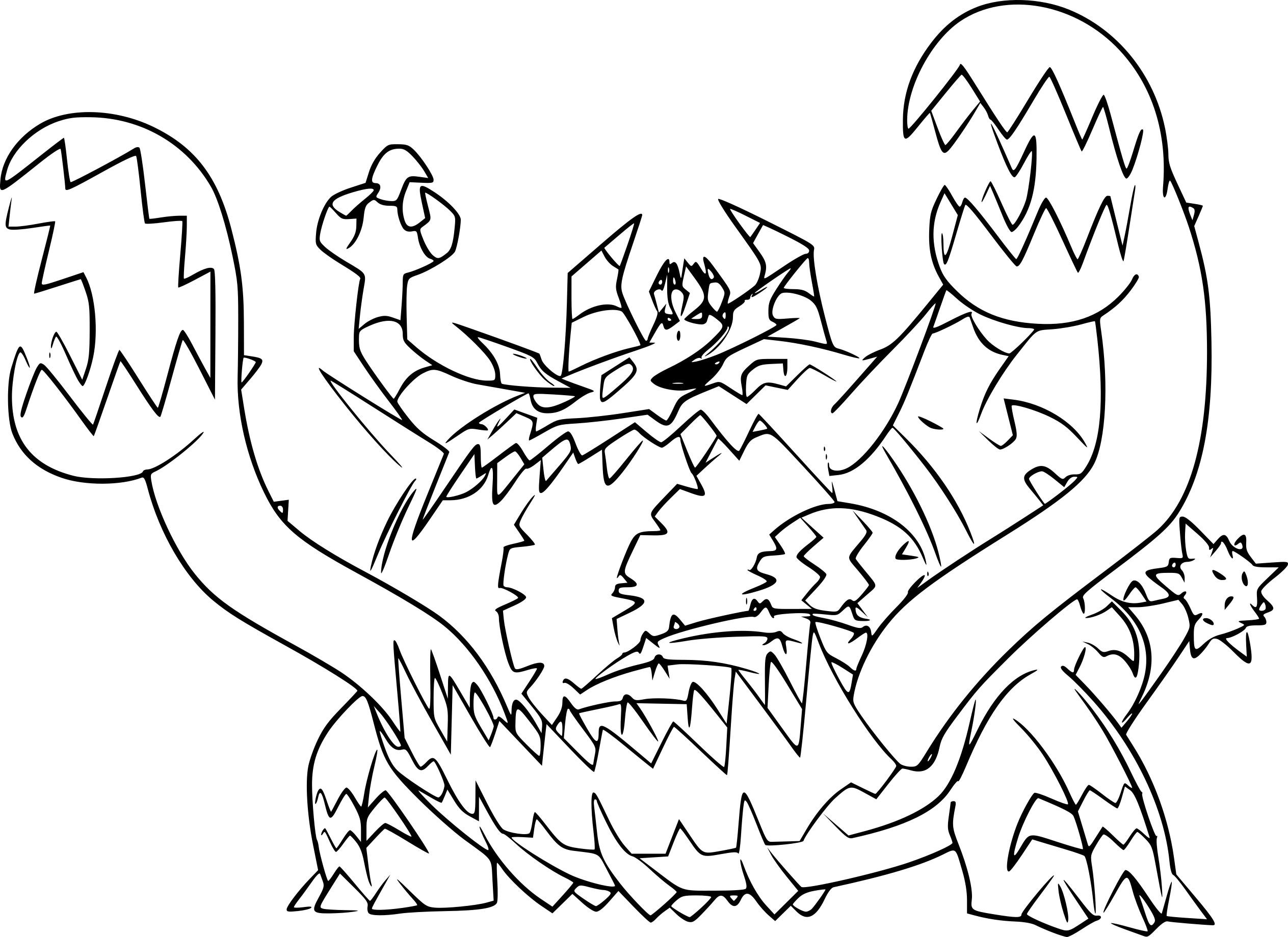 Coloriage Engloutyran Pokemon À Imprimer intérieur Coloriag Pokemon