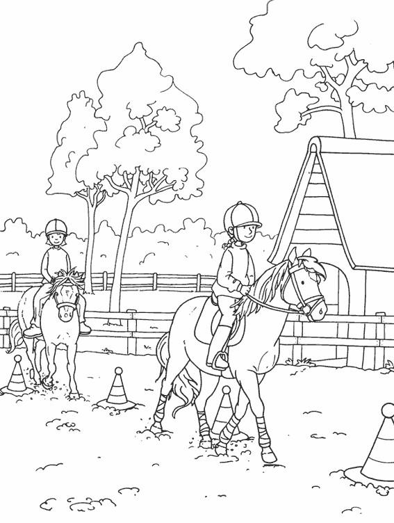 Coloriage Équitation En Couleur Dessin Gratuit À Imprimer concernant Coloriage De Cavaliere