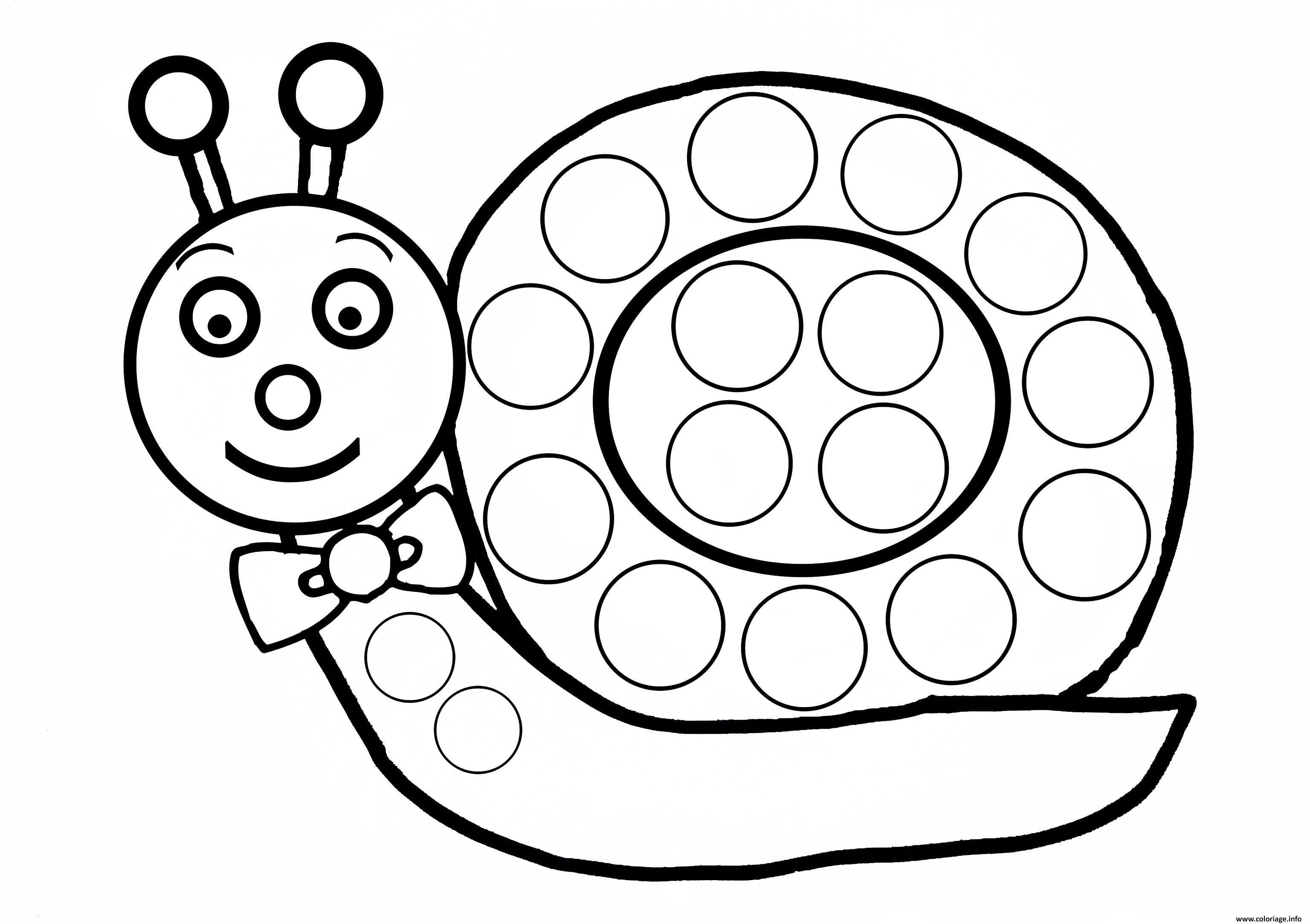 Coloriage Escargot A Gommette Enfant Dessin | Coloriage tout Coloriage Hugo L'Escargot A Imprimer Gratuit