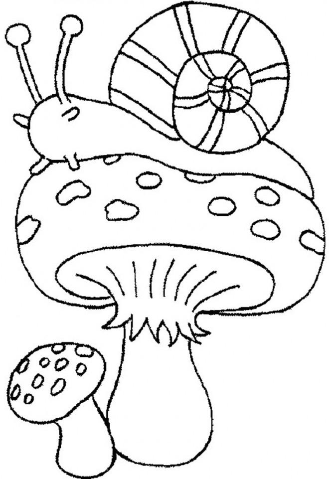 Coloriage Escargot En Automne Dessin Gratuit À Imprimer encequiconcerne Coloriage Kangourou A Imprimer Gratuit