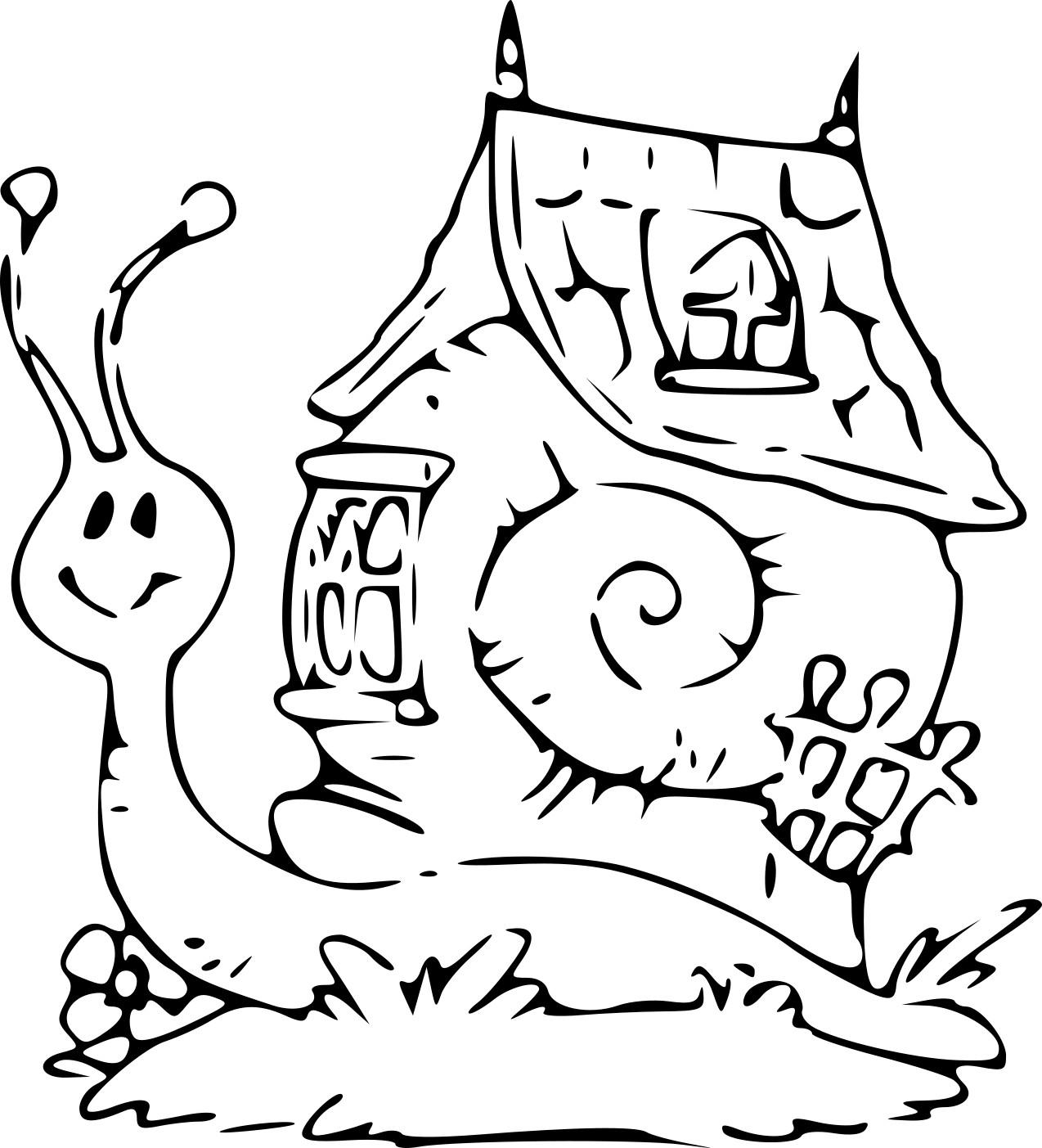 Coloriage Escargot Maison À Imprimer Sur Coloriages dedans Photo Escargot A Imprimer