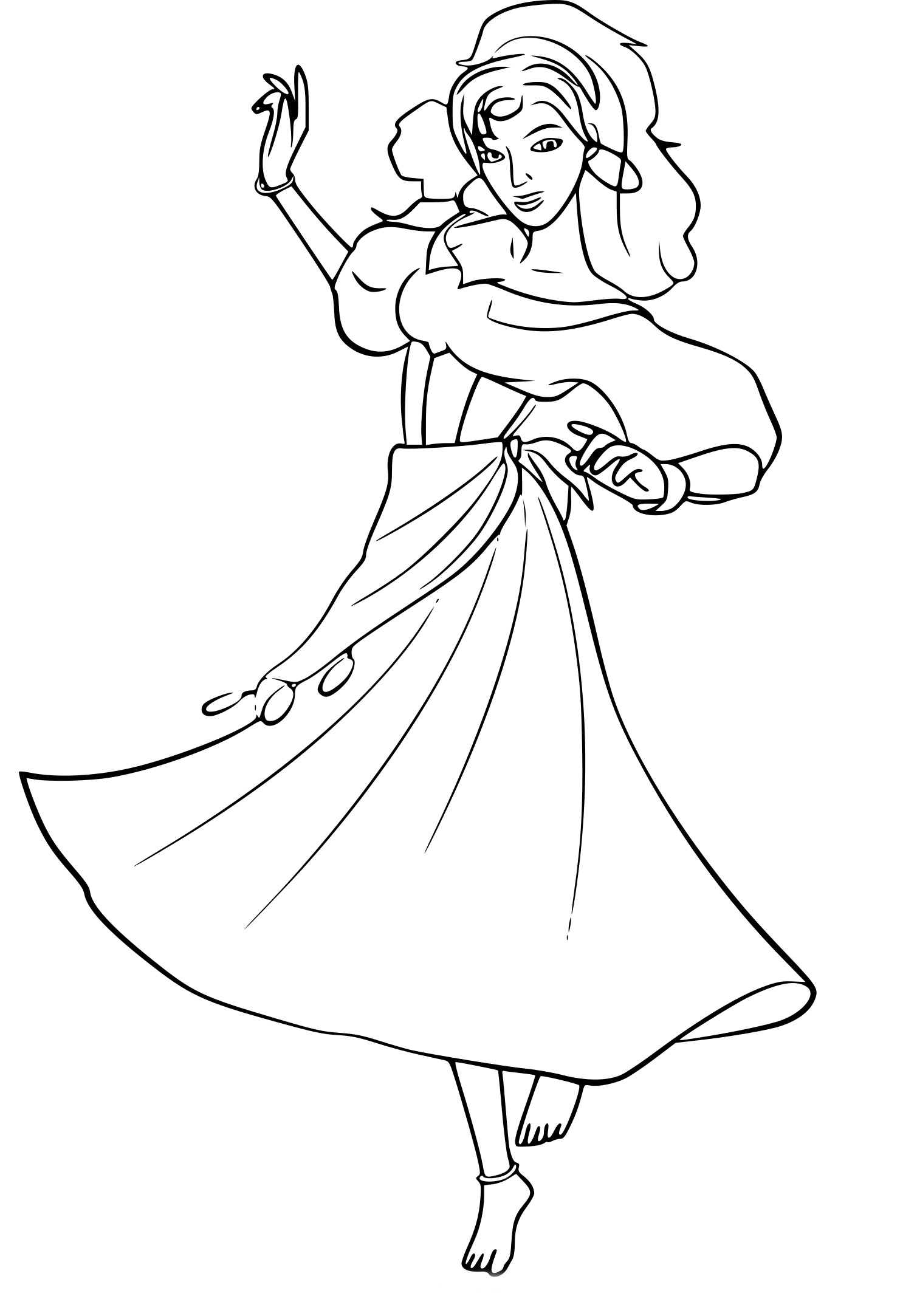 Coloriage Esmeralda À Imprimer avec Dessin Imprimer