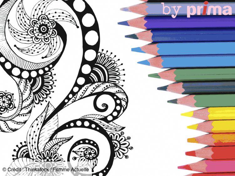 Coloriage Et Mandala Zen À Imprimer : Femme Actuelle Le Mag dedans Coloriage Zen Magazine