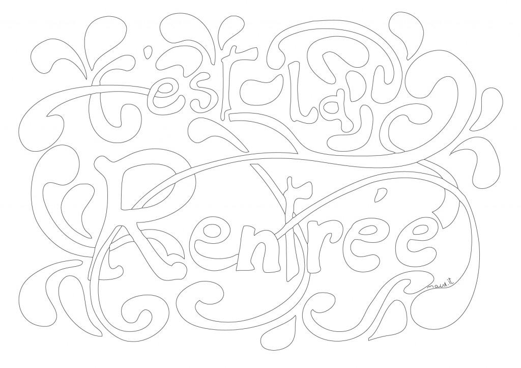 Coloriage Et Zendoodle De La Rentrée Des Classes - Maud T avec Coloriage Zen Magazine