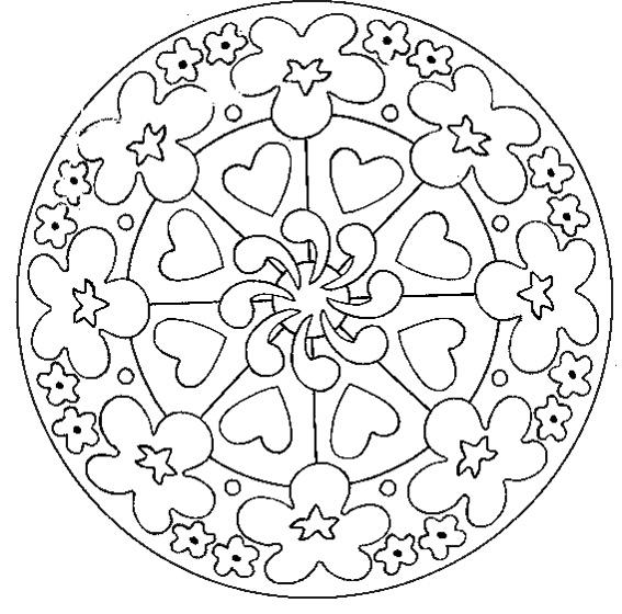Coloriage Facile Pour Adulte | My Blog concernant Mandala Pour Petit