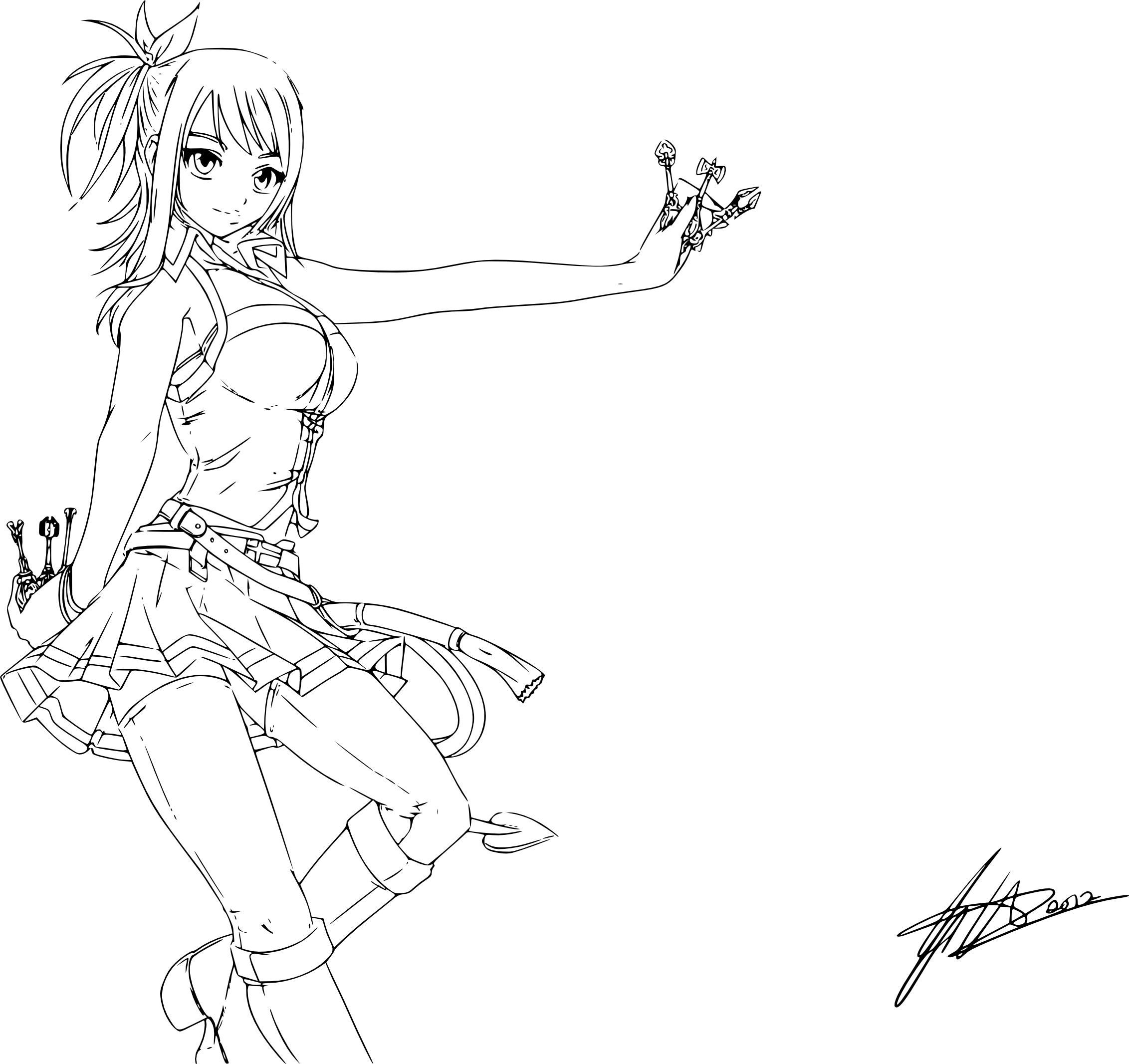 Coloriage Fairy Tail Lucy À Imprimer concernant Coloriage Fairy Tail A Imprimer
