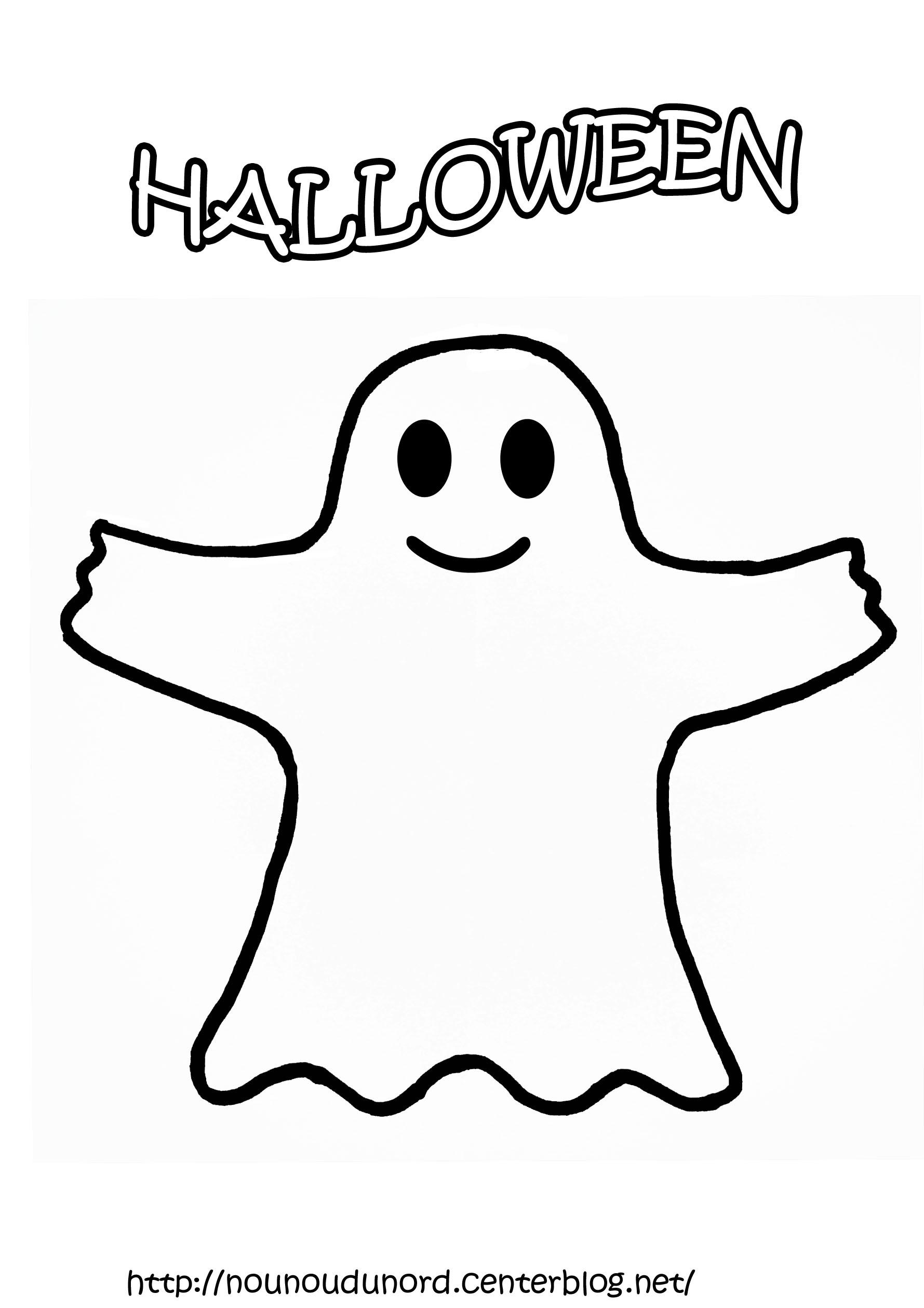 Coloriage Fantome À Imprimer Pour Les Enfants - Cp11268 intérieur Modele Dessin Halloween