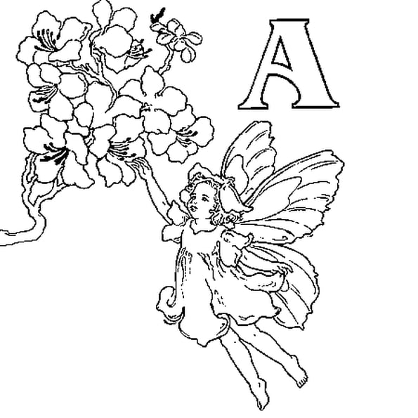 Coloriage Fée Alphabet En Ligne Gratuit À Imprimer pour Coloriage De Fée A Imprimer