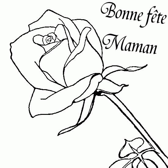 Coloriage Fête Des Mamans Dessin Gratuit À Imprimer avec Dessin Pour La Fête Des Mères