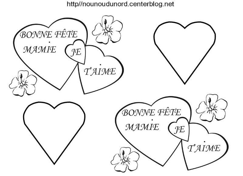 Coloriage Fete Des Mamies - Page 2 serapportantà Coloriage Bonne Fete Mamie