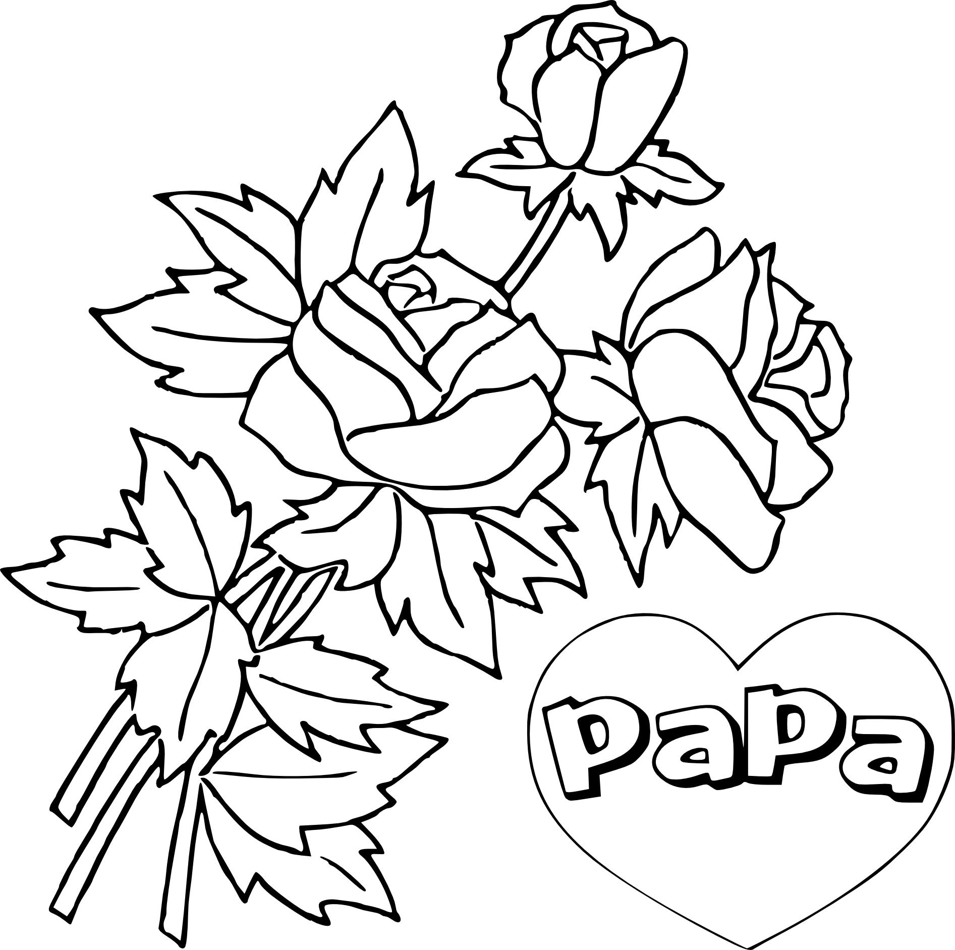 Coloriage Fête Des Pères À Imprimer à Fete Des Peres Dessin