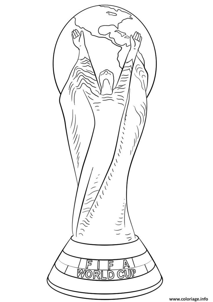 Coloriage Fifa World Cup Football Trophee Coupe Du Monde concernant Coupe Du Monde Dessin