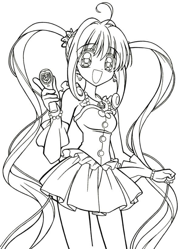 Coloriage Fille Manga Kawaii Dessin Gratuit À Imprimer avec Coloriage Fille