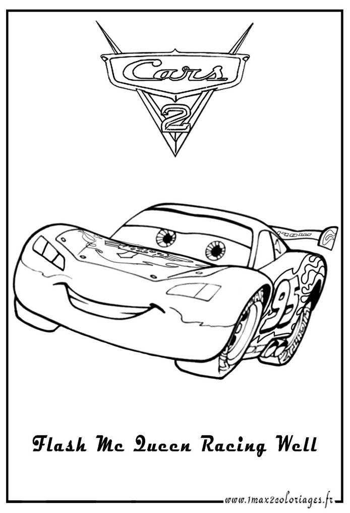 Coloriage Flash Mcqueen En Ligne Gratuit à Dessin A Colorier Cars