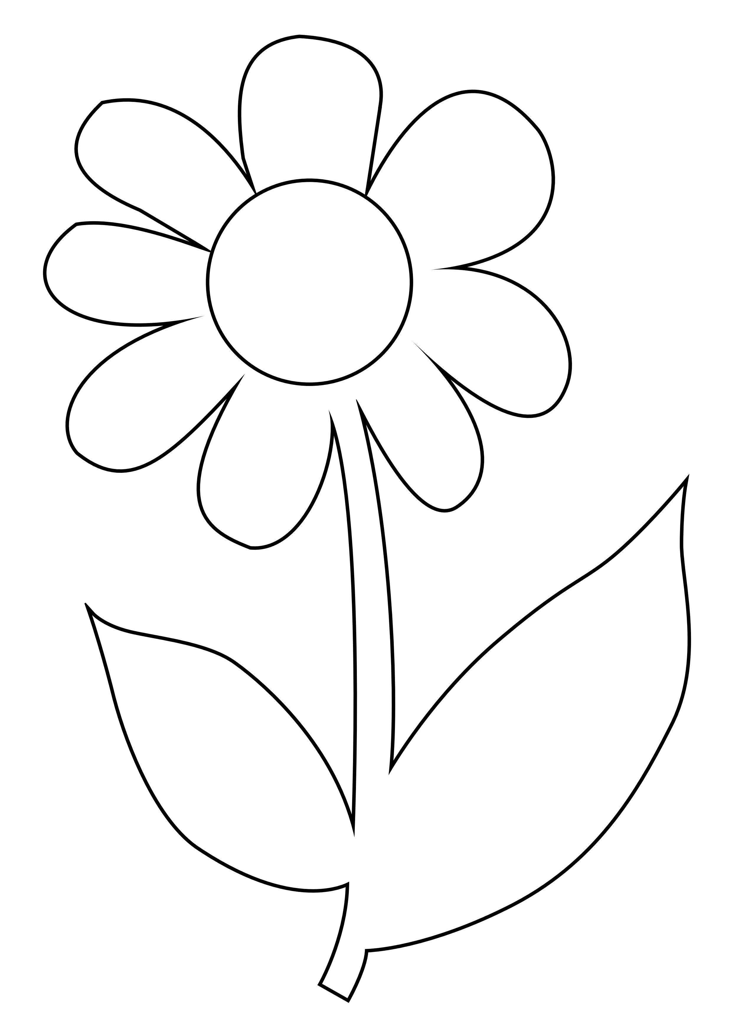 Coloriage Fleur serapportantà Dessin De Fleure