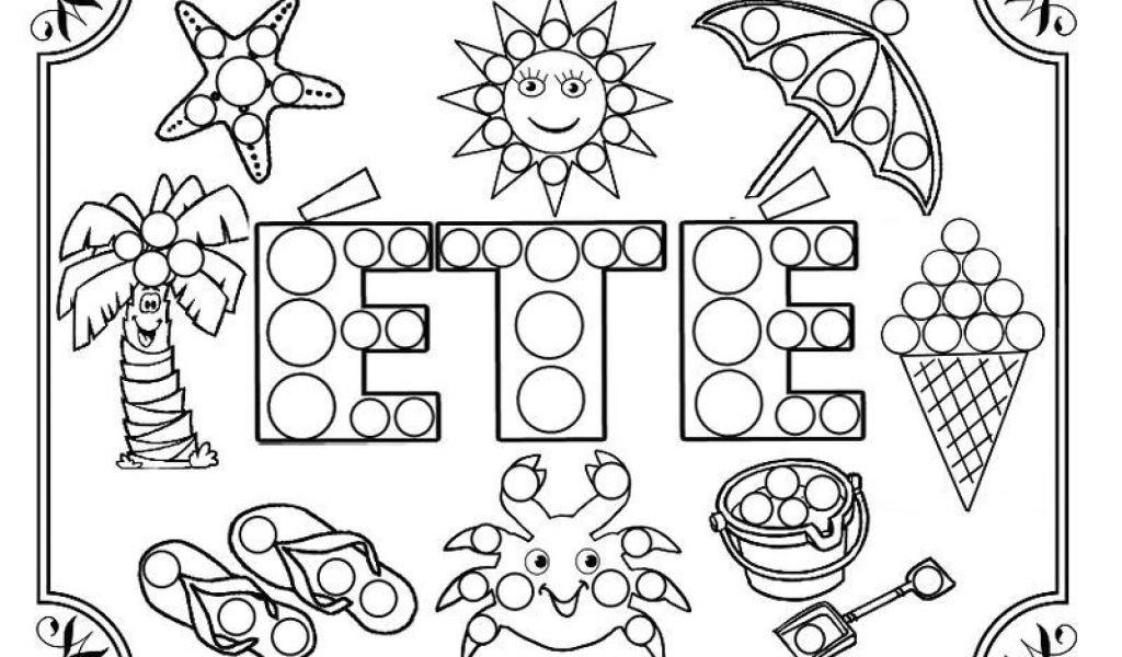 Coloriage Fleurs D Été Coloriage Ete | Danieguto avec Coloriage Été Maternelle