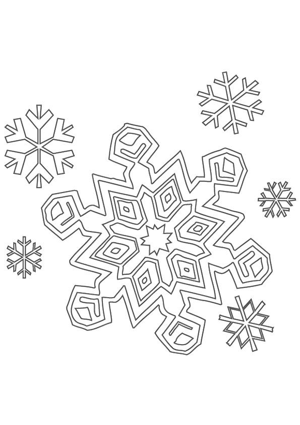 Coloriage Flocon De Neige 9 Dessin Gratuit À Imprimer avec Flocon À Colorier
