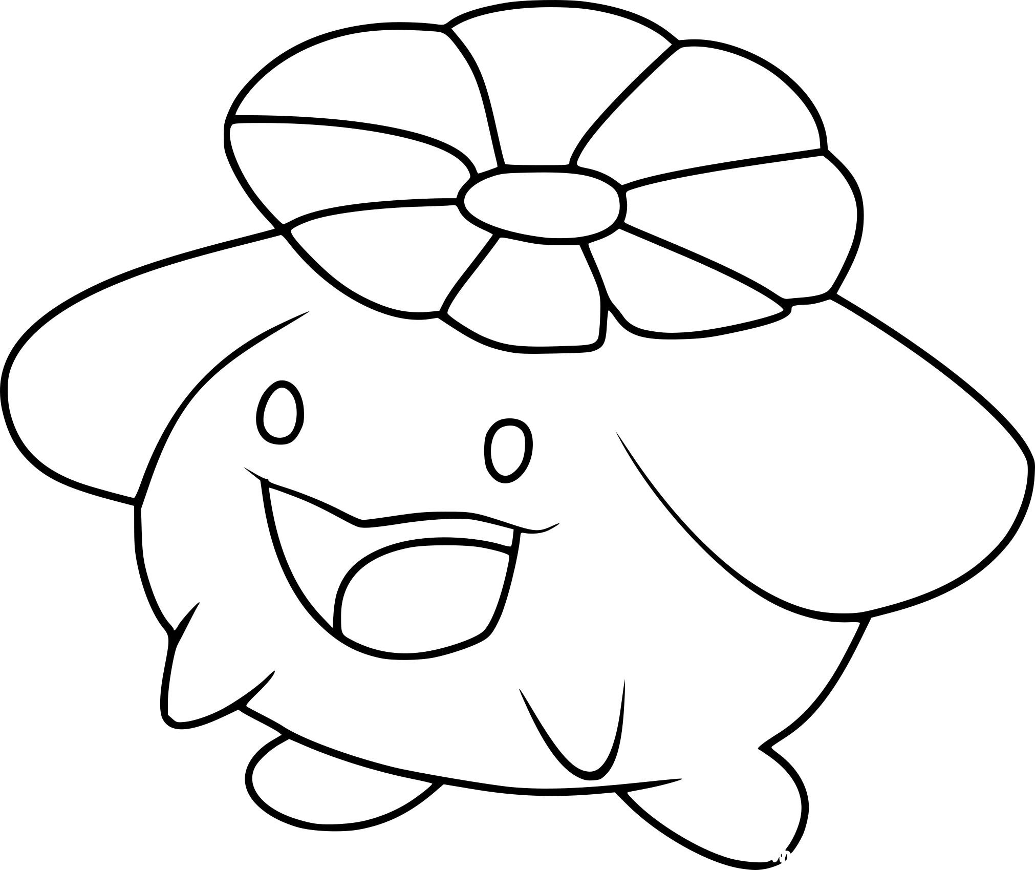 Coloriage Floravol Pokemon À Imprimer Sur Coloriages dedans Coloriage Pok?Mon Sucreine