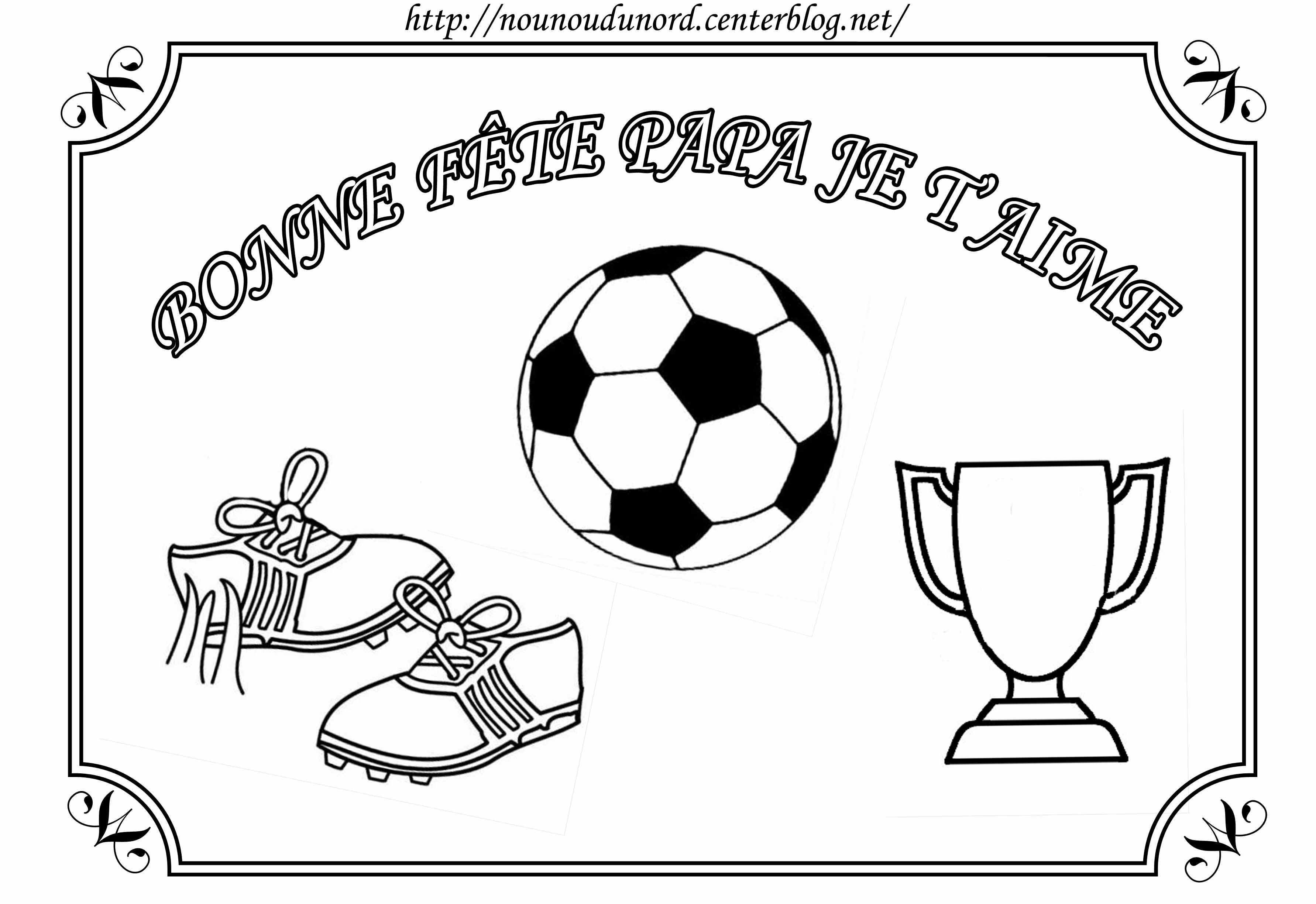Coloriage Foot Pour La Fête Des Pères Par Nounoudunord destiné Dessin Fete Des Pere