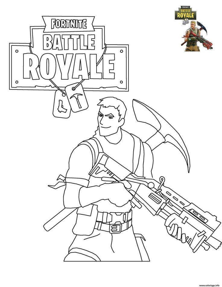 Coloriage Fortnite Battle Royale À Imprimer | Coloriage avec Coloriage De Fortnite