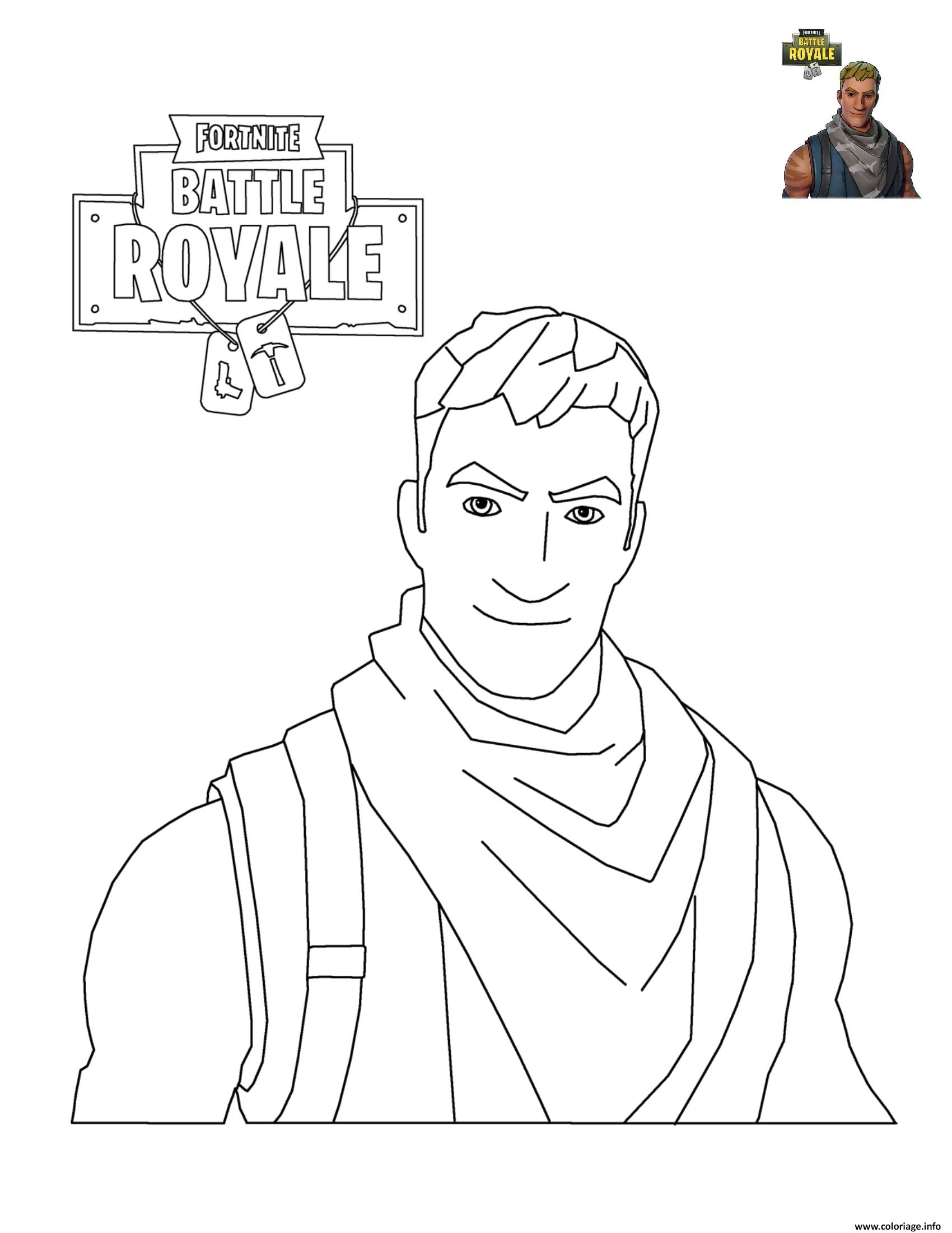 Coloriage Fortnite Battle Royale Personnage 3 Dessin à Coloriage A Imprimer Fortnite
