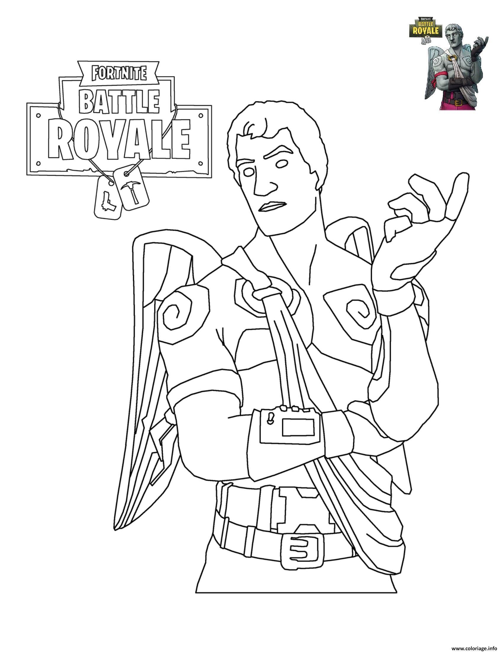 Coloriage Fortnite Battle Royale Personnage 6 À Imprimer tout Coloriage A Imprimer Gratuit