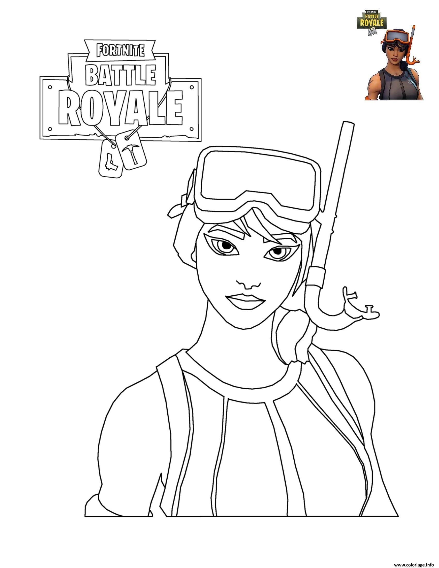 Coloriage Fortnite Battle Royale Personnage 7 À Imprimer serapportantà Coloriage En Ligne Gratuit