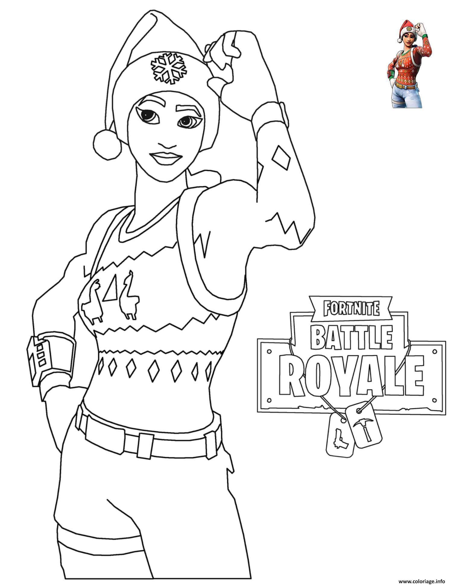 Coloriage Fortnite Christmas À Imprimer (Avec Images à Dessin A Imprimer Personnage Fortnite
