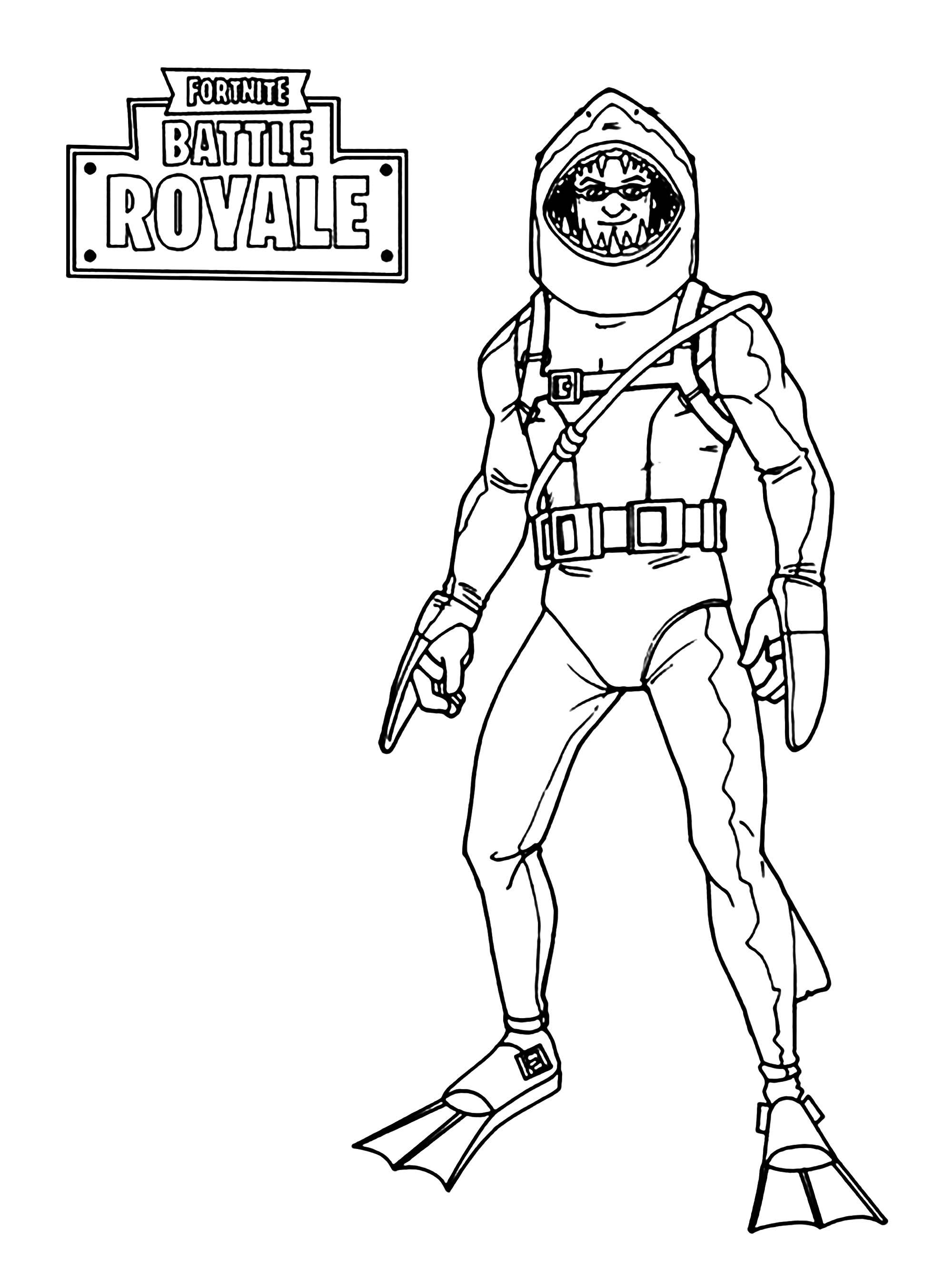 Coloriage Fortnite concernant Dessin A Imprimer Personnage Fortnite
