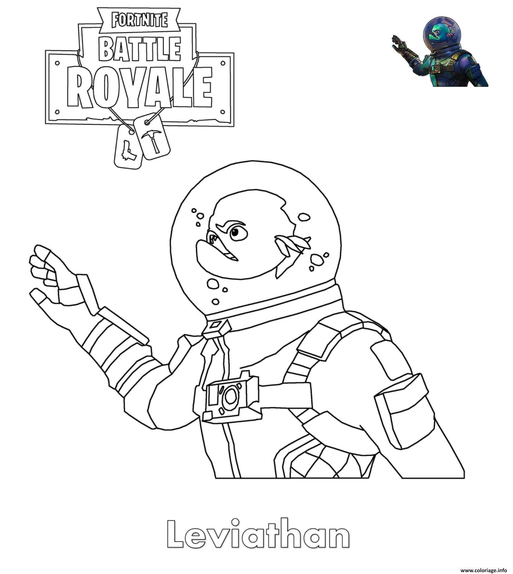 Coloriage Fortnite Leviathan Skin À Imprimer | Coloriage à Coloriage A Imprimer Fortnite