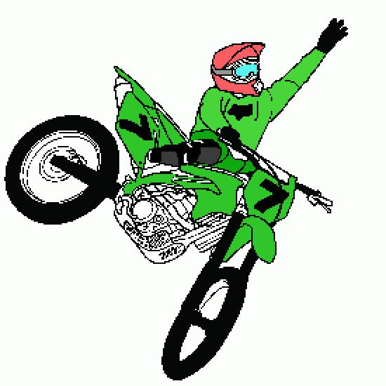 Coloriage Freestyle Motocross dedans Moto Cross A Colorier