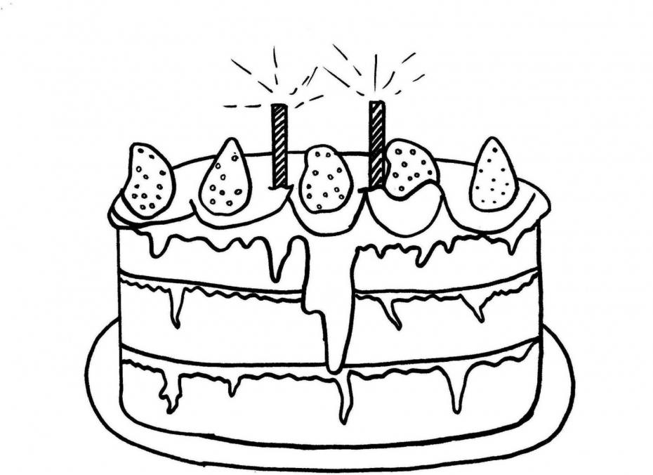 Coloriage Gâteau Anniversaire Dessin À Imprimer Sur serapportantà Dessin De Gateau Anniversaire