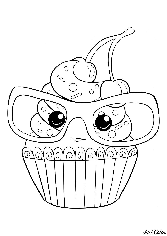 Coloriage Gateau Cupcake encequiconcerne Coloriage De Cupcake