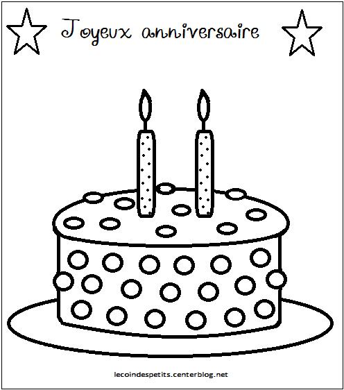 Coloriage Gâteau D'Aniversaire avec Coloriage Gâteau D Anniversaire
