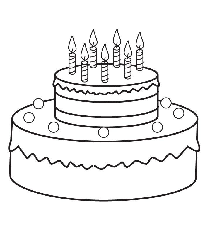 Coloriage Gateau D'anniversaire avec Dessin Gateau Anniversaire 40 Ans