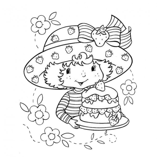 Coloriage Gâteau De Charlotte Dessin Gratuit À Imprimer dedans Dessin Sur Gateau