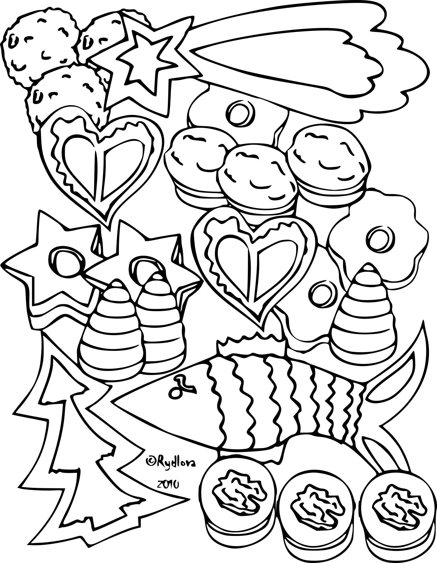 Coloriage Gateau De Noel À Imprimer Sur Coloriages pour Dessin Sur Gateau