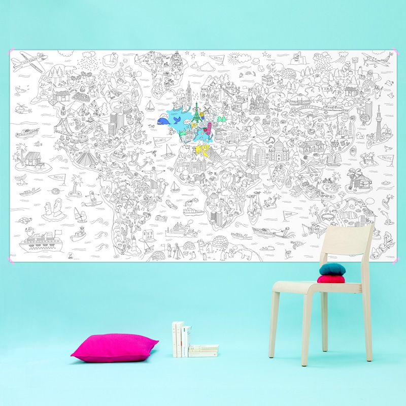 Coloriage Geant Atlas Omy Omy5Gc-At : Concept Store Street intérieur Omy Coloriage Geant