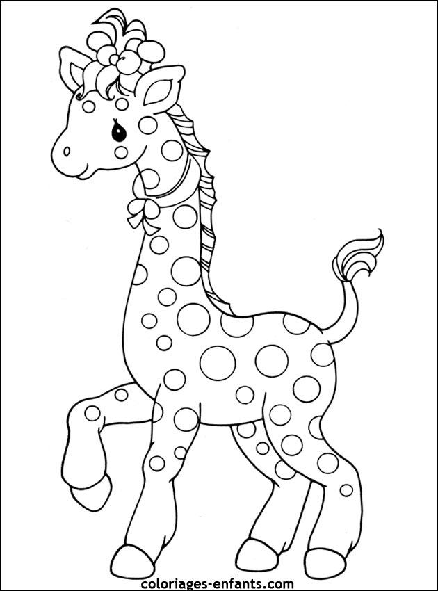Coloriage Girafe Madagascar concernant Coloriage Girafe A Imprimer Gratuit