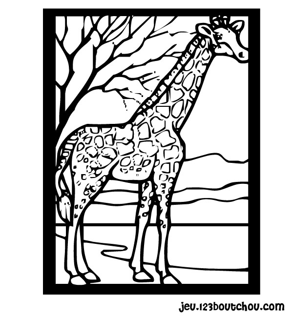 Coloriage Girafe Madagascar tout Dessin Girafe Simple