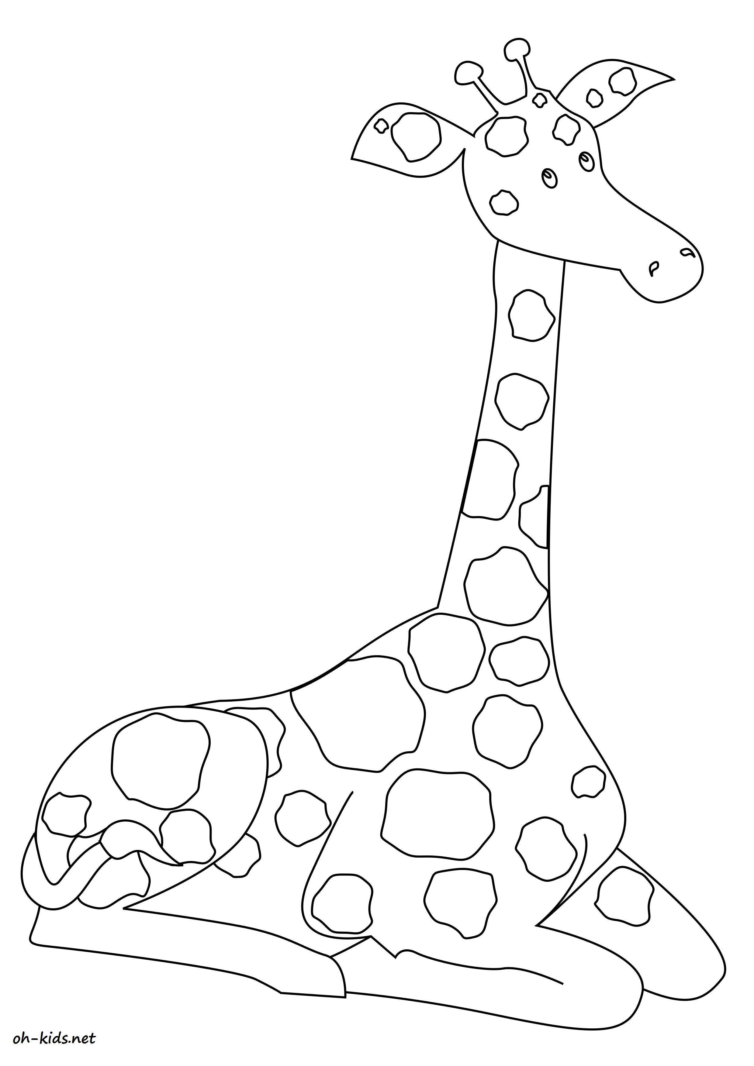 Coloriage Girafe - Page 2 Of 2 - Oh Kids Fr avec Coloriage Girafe A Imprimer Gratuit