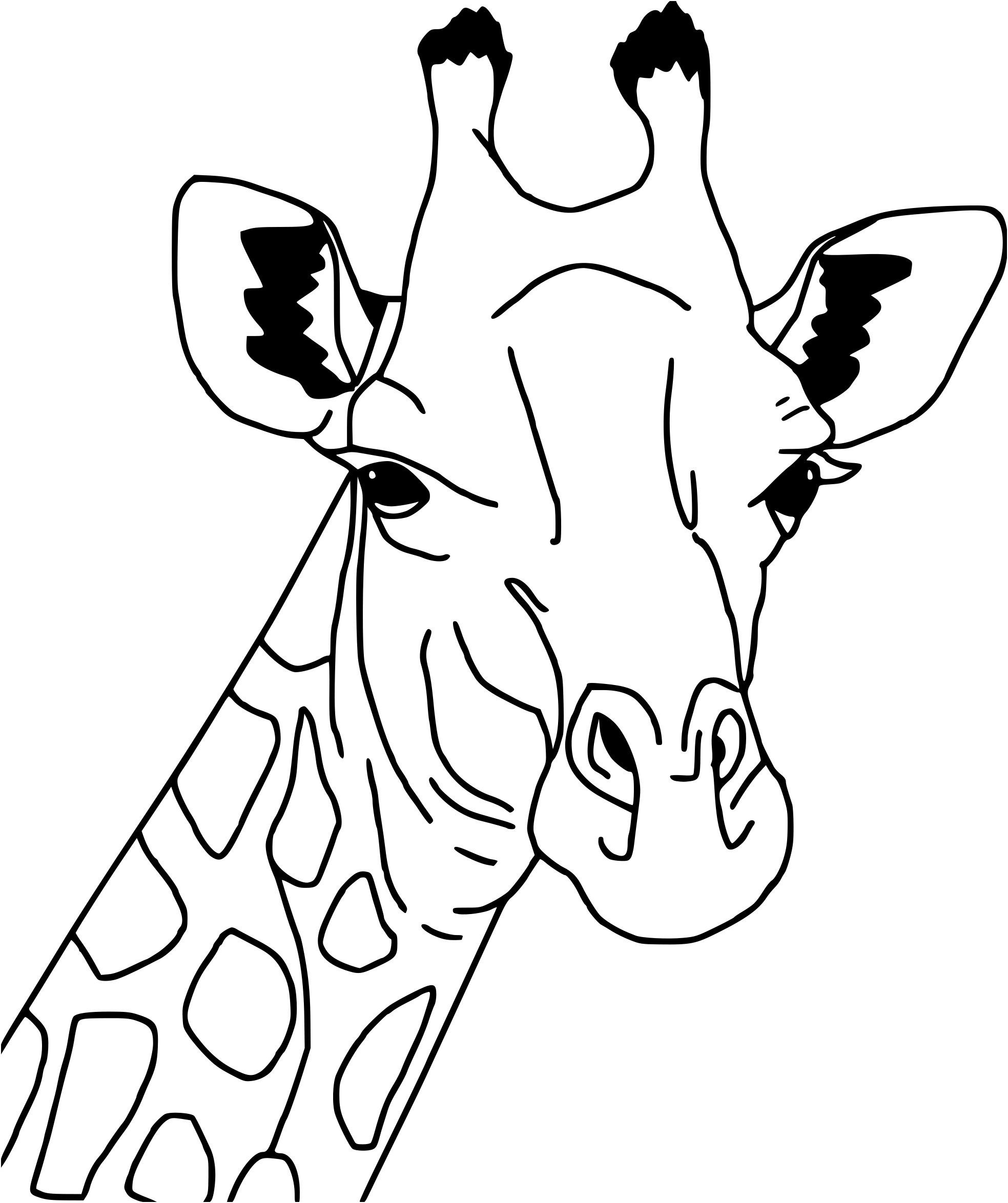 Coloriage Girafe Simple serapportantà Dessin Girafe Simple
