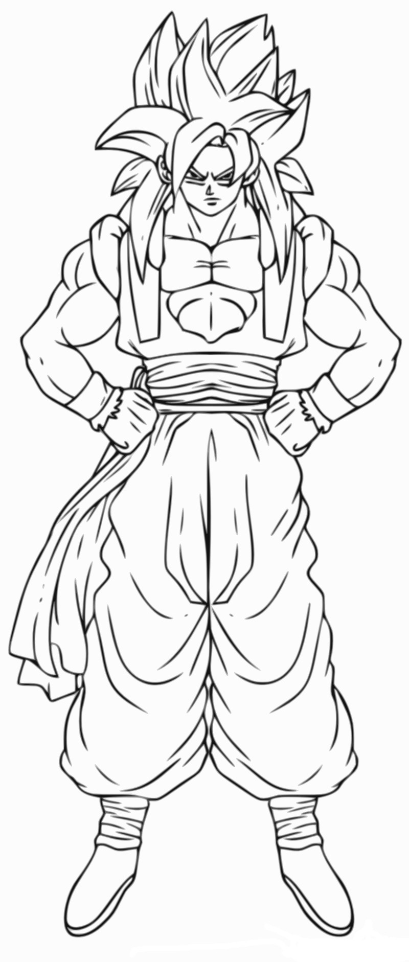 Coloriage Gogeta Dragon Ball Z Imprimer Et Colorier – 3 Design à Coloriage Dragon Ball Z Sangoku