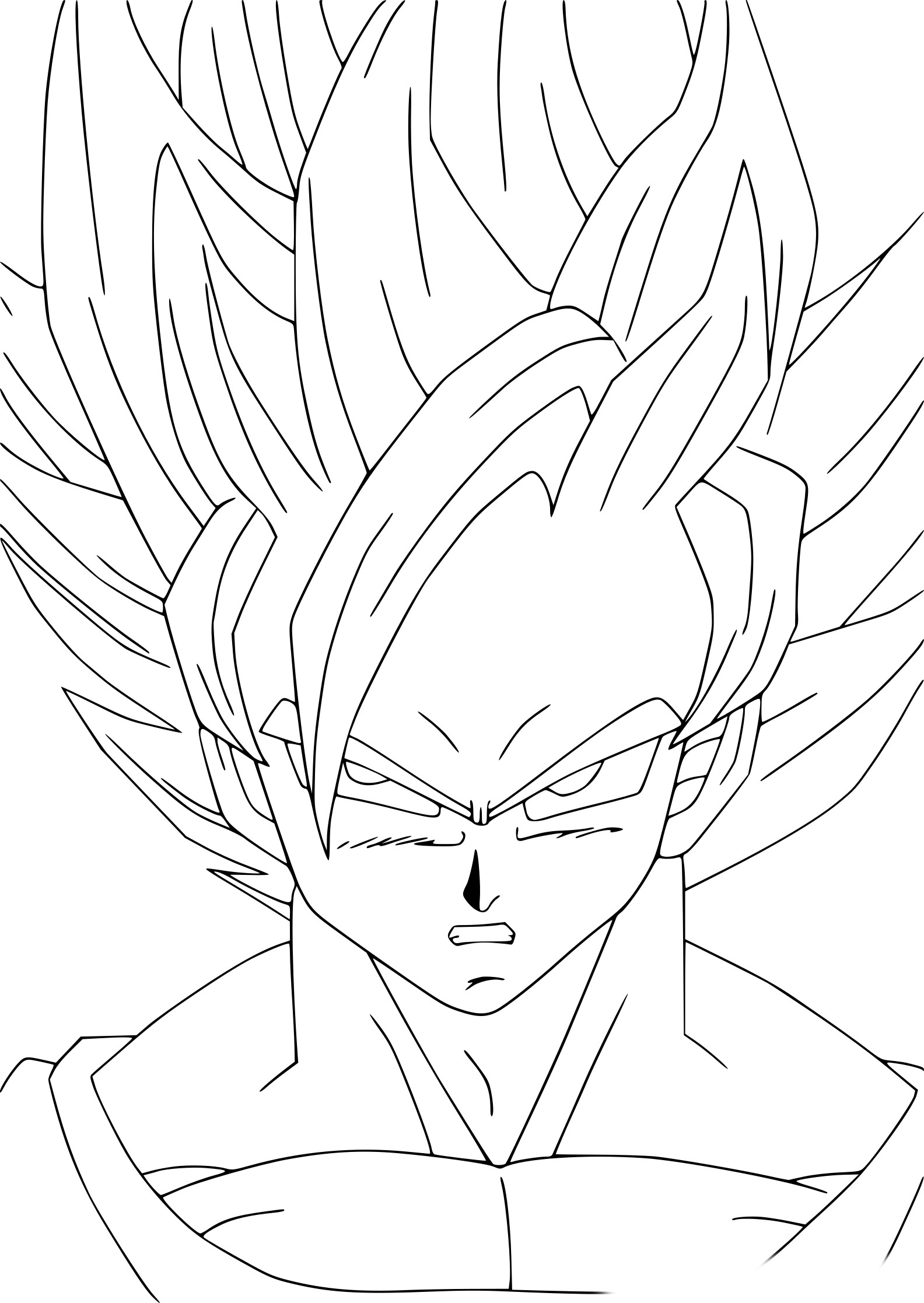 Coloriage Goku Dbz À Imprimer Sur Coloriages serapportantà Coloriage Dragon Ball Z Sangoku