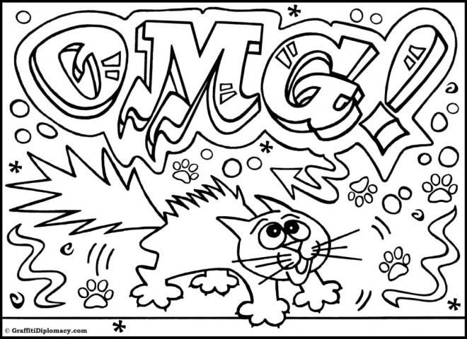 Coloriage Graffiti Humouristique Dessin Gratuit À Imprimer concernant Dessin Tag A Imprimer