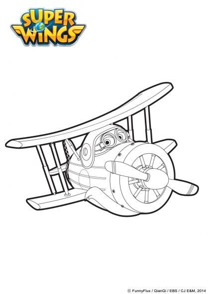 Coloriage Grand Albert En Mode Avion | Super Wings encequiconcerne Coloriage Super Wings A Imprimer Gratuit
