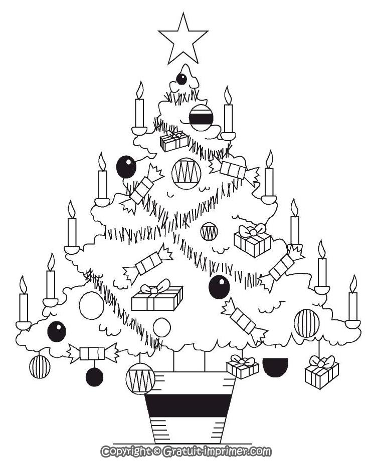Coloriage Gratuit A Imprimer - Sapin De Noel 2014 destiné Coloriage De Sapin De Noel A Imprimer Gratuit