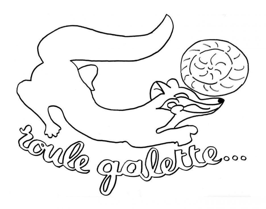Coloriage Gratuit Galette Des Rois à Coloriage De Galette