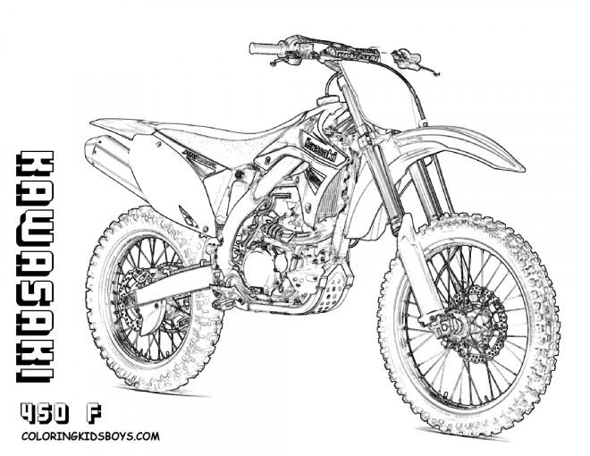 Coloriage Gratuit Moto Cross serapportantà Coloriage Moto Cross A Imprimer Gratuit